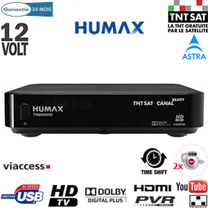 humax tn 8000 hd pvr terminal num rique tntsat hd canal ready 12 volts avec carte viaccess. Black Bedroom Furniture Sets. Home Design Ideas
