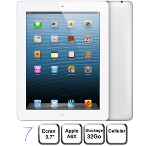 Apple iPad Retina blanc 9,7