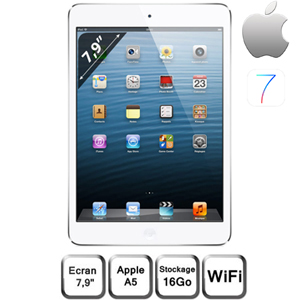 Apple iPad Mini  7.9'' Capacitif - Wifi - 16 Go