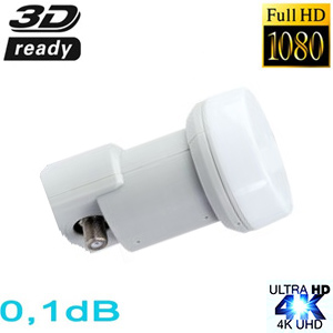 LNB Single 0.1dB 40mm - Eco - 3 ans de garantie