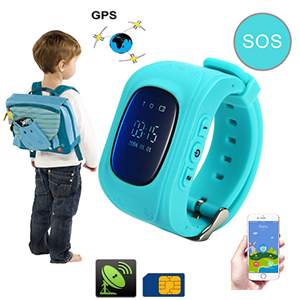 montre t l phone pour enfant traceur gps sos gsm 1 lecteur de carte sim micro int gr. Black Bedroom Furniture Sets. Home Design Ideas