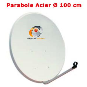 antenne parabolique en Acier galvanisé 100 cm (98 x 90 cm) Gris clair