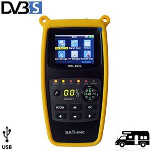 Pointeur Satellite WS-6923 - DVB-S - écran LCD - idéale pour Camping
