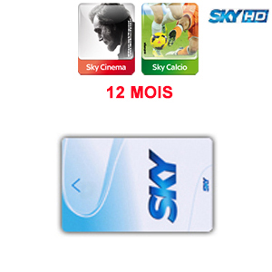 Abonnement Sky Italia HD 2 Bouquets (Sky TV + Cinema + Calcio) 12 mois via Hotbird 13° E