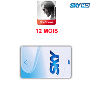 Abonnement Sky Italia HD 1 Bouquet (Sky TV + Cinema) 12 mois via Hotbird 13° E