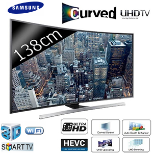 tv led 55 138 cm incurv uhd 4k smart tv 3d. Black Bedroom Furniture Sets. Home Design Ideas