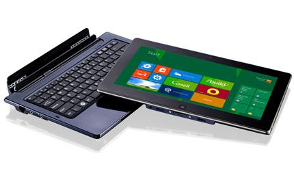pc portable convertible en tablette tactile compatible. Black Bedroom Furniture Sets. Home Design Ideas