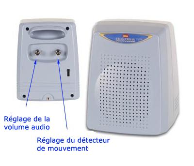 alarme chien de garde lectronique avec radar volum trique. Black Bedroom Furniture Sets. Home Design Ideas