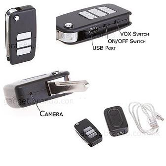 camera dvr porte cle voiture