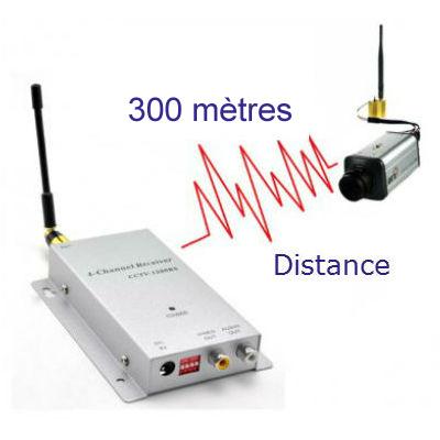 kit booster de signal radio vid o et audio emetteur r cepteur 1 2ghz port e 300 m. Black Bedroom Furniture Sets. Home Design Ideas