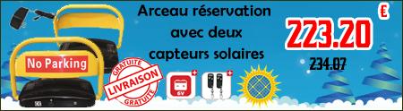 Arceau parking solaire