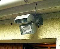 Projecteur ext rieur solaire 25 leds avec d tecteur de - Detecteur de mouvement exterieur longue portee ...