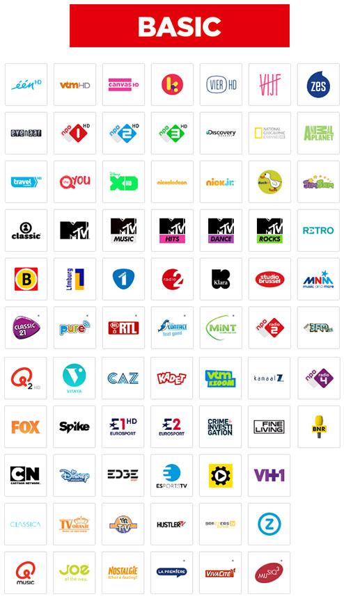 Abonnement belgique tv vlaanderen au choix basic light - Liste des chaines satellite astra 19 2 est ...
