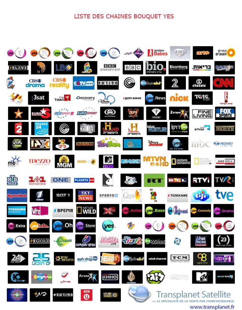 Abonnement Yes TV Israël complet HD - plus de 155 chaines - 12 mois ...